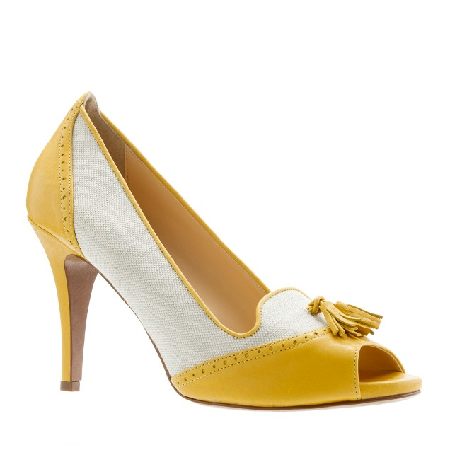 Evie oxford peep-toe pumps