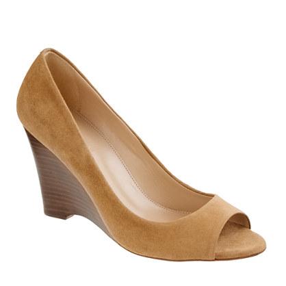 Lora peep-toe wedges