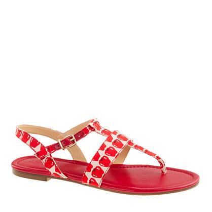 Kira printed sandals