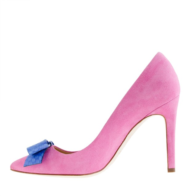 Collection Contessa snakeskin-bow pumps