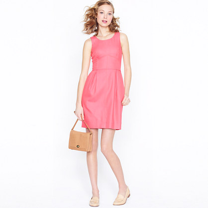 Basket-weave shift dress