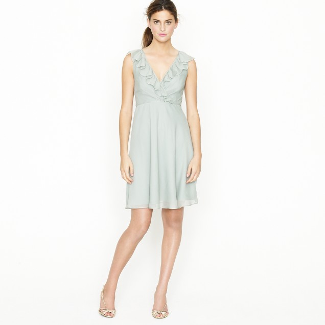 Petite Macie dress in silk chiffon