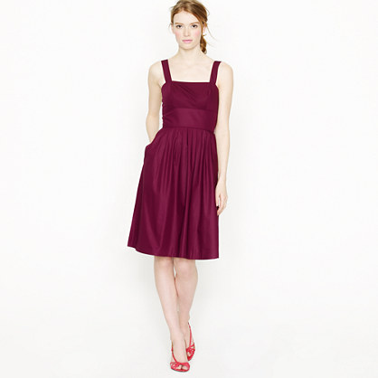 Sloane dress in cotton taffeta