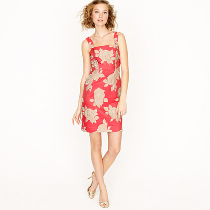 Hailey dress in floral jacquard