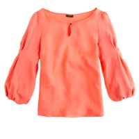 Collection jacquard keyhole blouse