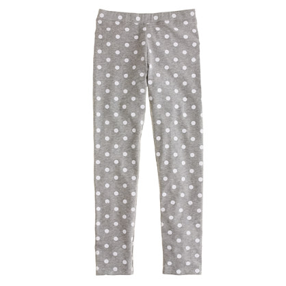 Girls' everyday leggings in lotsa dots