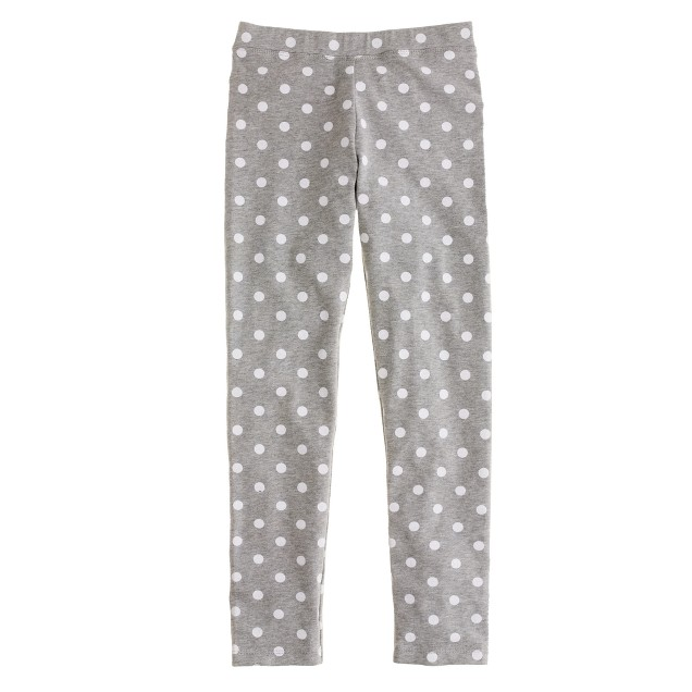 Girls' everyday leggings in lotsa dots