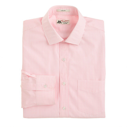 Thomas Mason® for J.Crew Ludlow shirt in pink grid