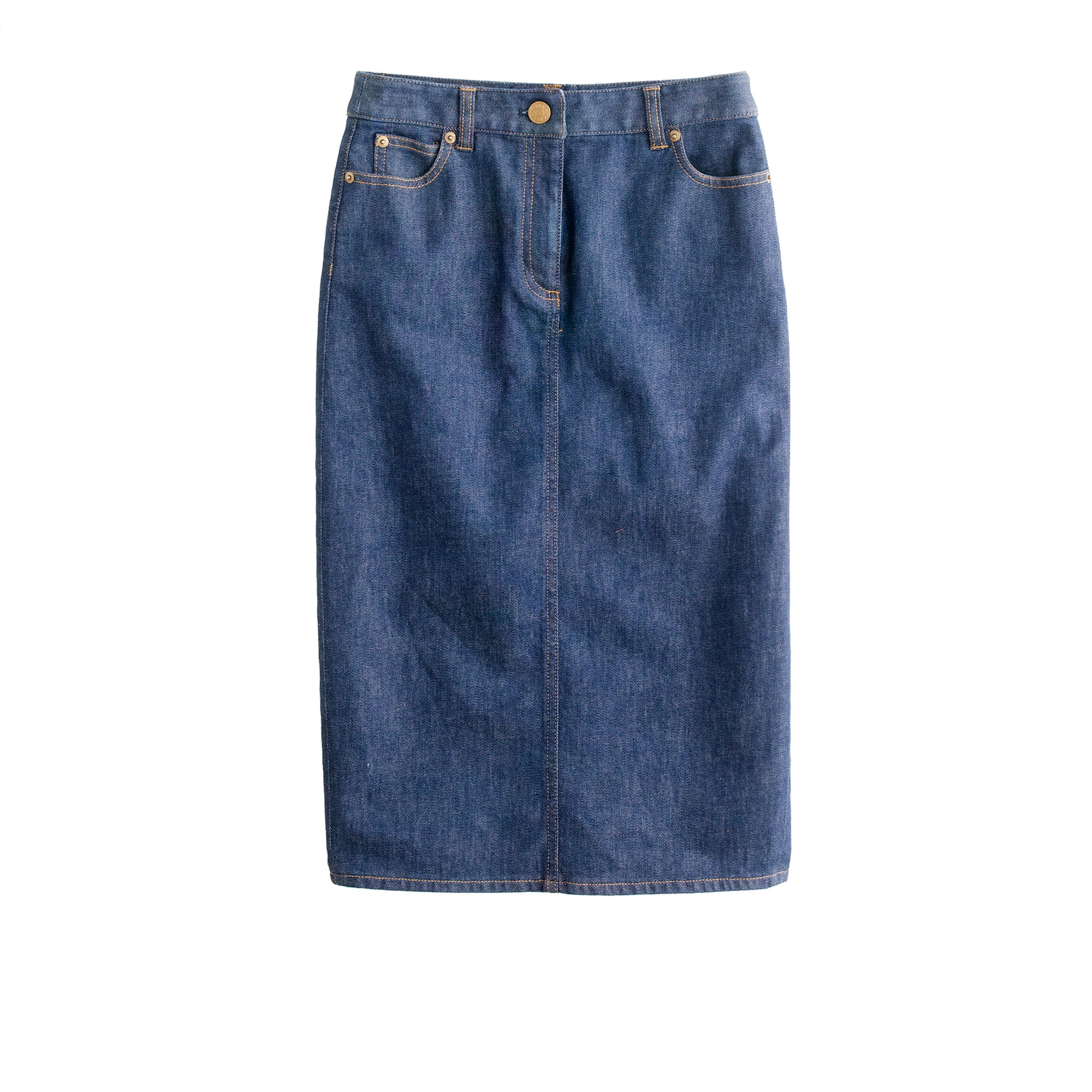 High-waisted denim pencil skirt in rinse wash : Women pencil | J.Crew