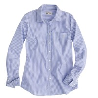Perfect shirt in wide blue stripe Thomas Mason® fabric