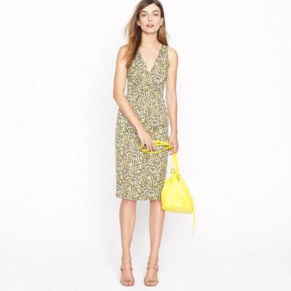 Fabiola dress in abstract leopard