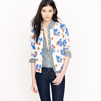 Paintbox floral cardigan : Cardigans & Shells | J.Crew