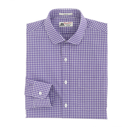 Thomas Mason® for J.Crew Ludlow shirt in vivid grape check