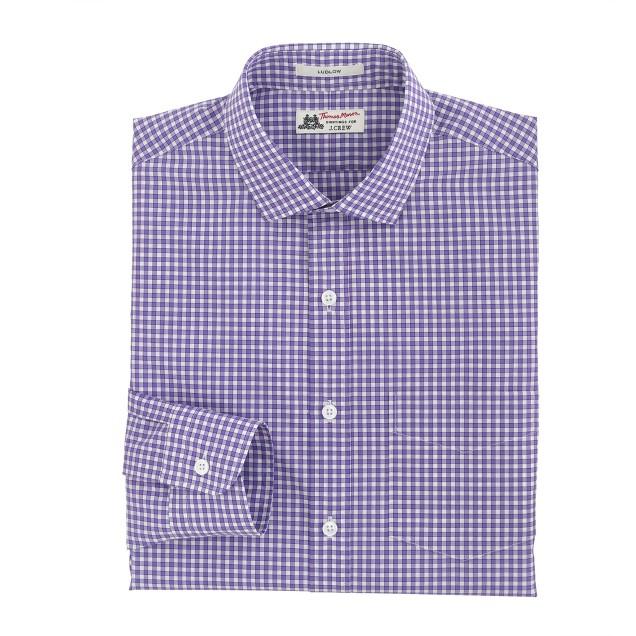 Thomas Mason® for J.Crew Ludlow shirt in vivid grape check