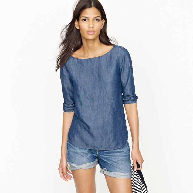 chambray top j crew ForChambray Top