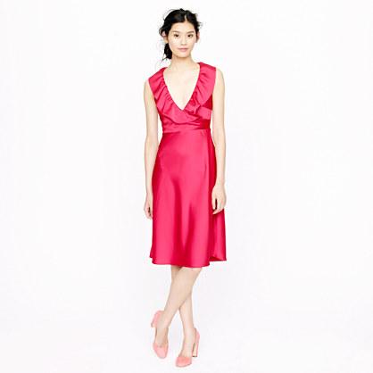 Petite Rosalind dress in tricotine