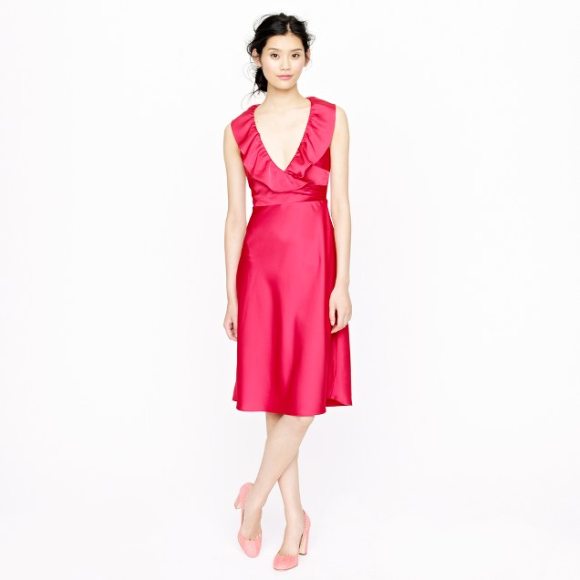 Petite Rosalind dress in tricotine