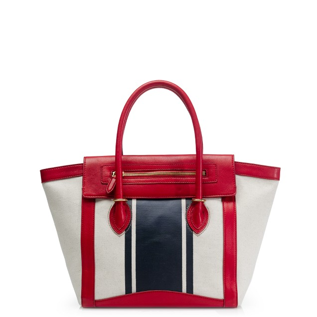 Tillary tote in canvas stripe