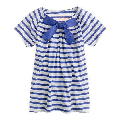 Girls' bow tie tee in stripe
