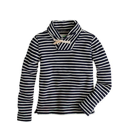 Boys' terry popover in nautical stripe