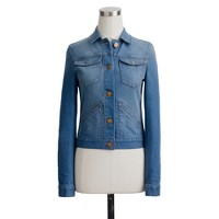Jean jacket in vintage sea blue wash