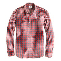 Slim Thomas Mason® archive for J.Crew shirt in 1892 rusted red check