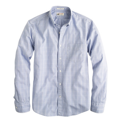 Slim Thomas Mason® for J.Crew shirt in glen plaid