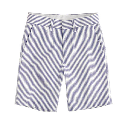 Boys' club short in wide-stripe seersucker