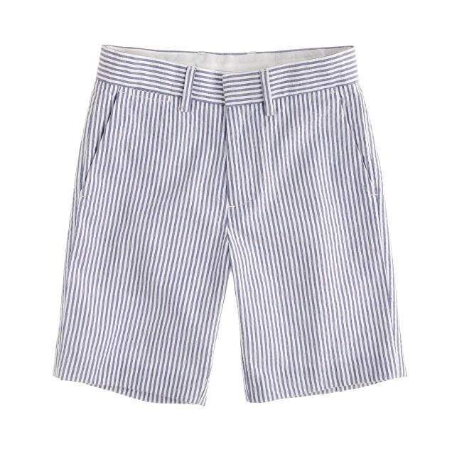 Boys' club short in wide-stripe seersucker