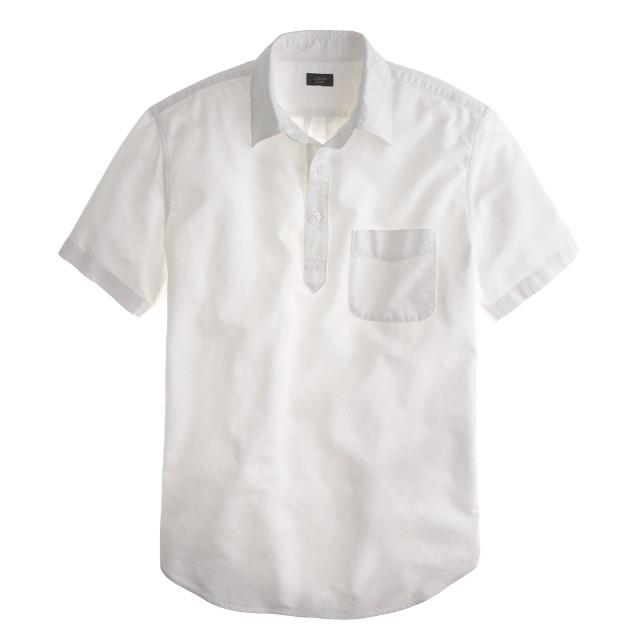 Short-sleeve popover in white oxford