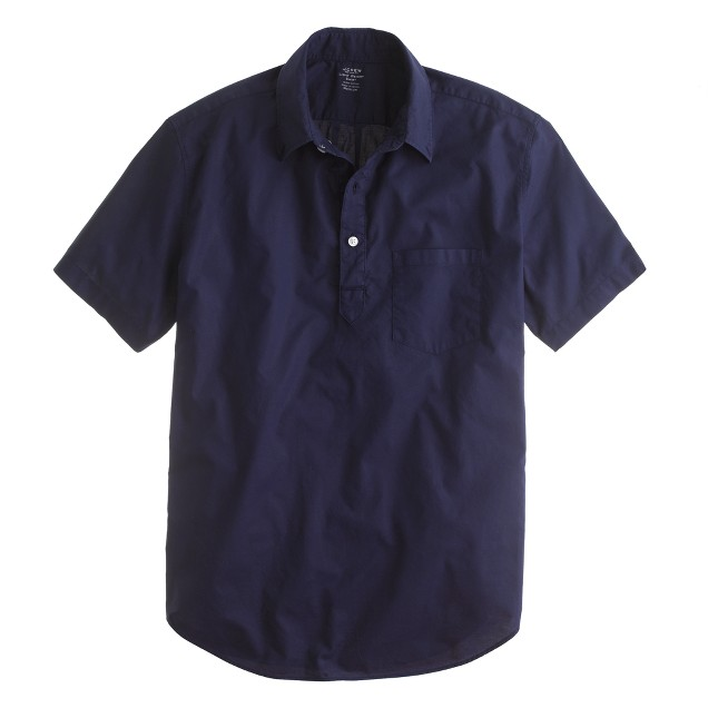 Lightweight short-sleeve popover in garment dye
