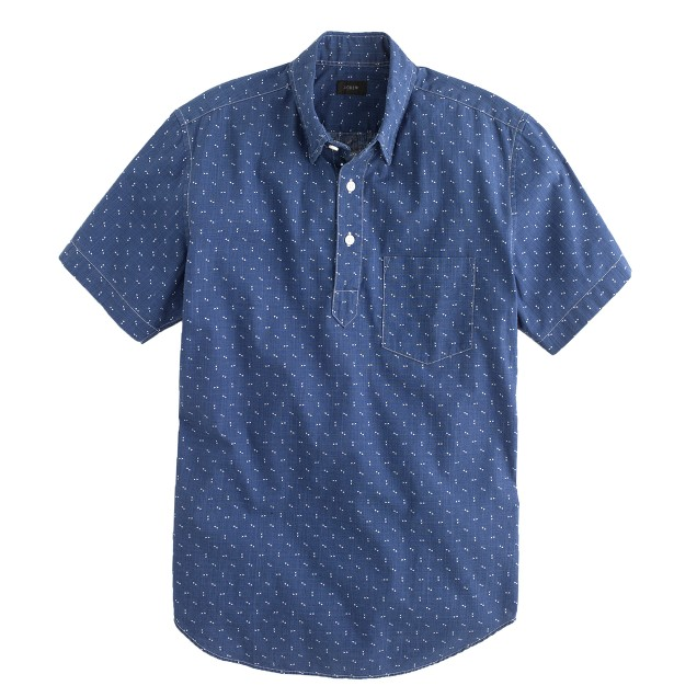 Short-sleeve popover in arrow print