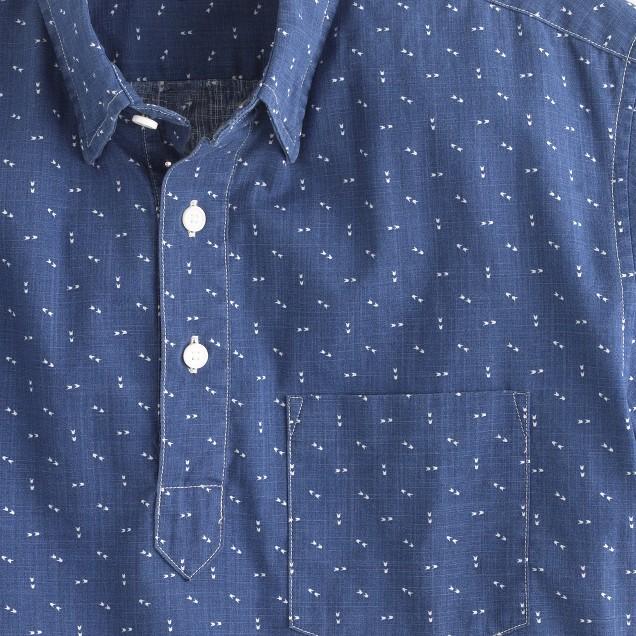 Short-sleeve popover in arrow print