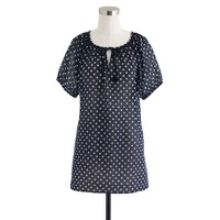Whisper gauze peasant tunic in dot