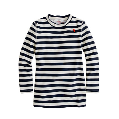 Girls' stripe rash-guard top