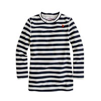 Girls' stripe rash-guard top