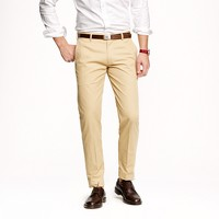 Unhemmed Ludlow slim suit pant in Italian chino