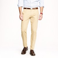 Unhemmed Ludlow classic suit pant in Italian chino