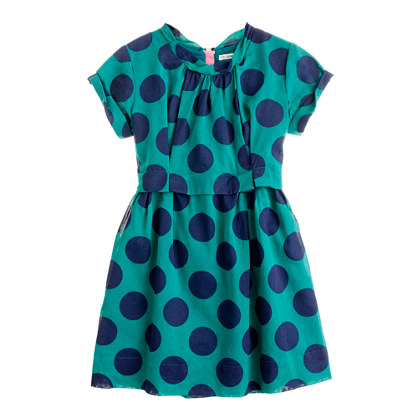 Girls' organdy poppet dress in super dot
