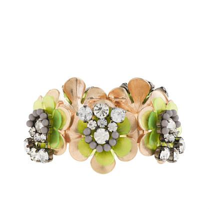 Neon flower bracelet