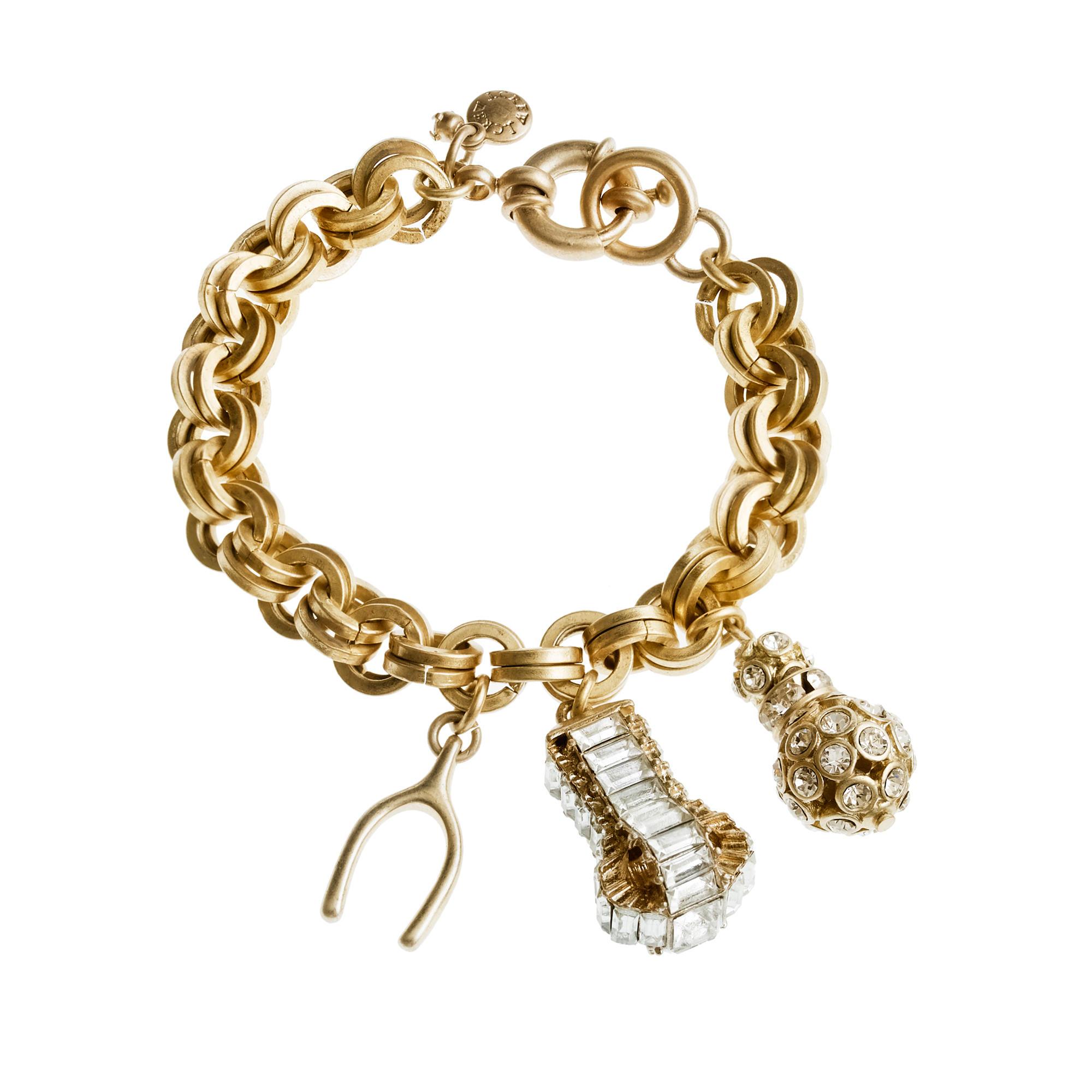 snow sparkle charm bracelet j crew