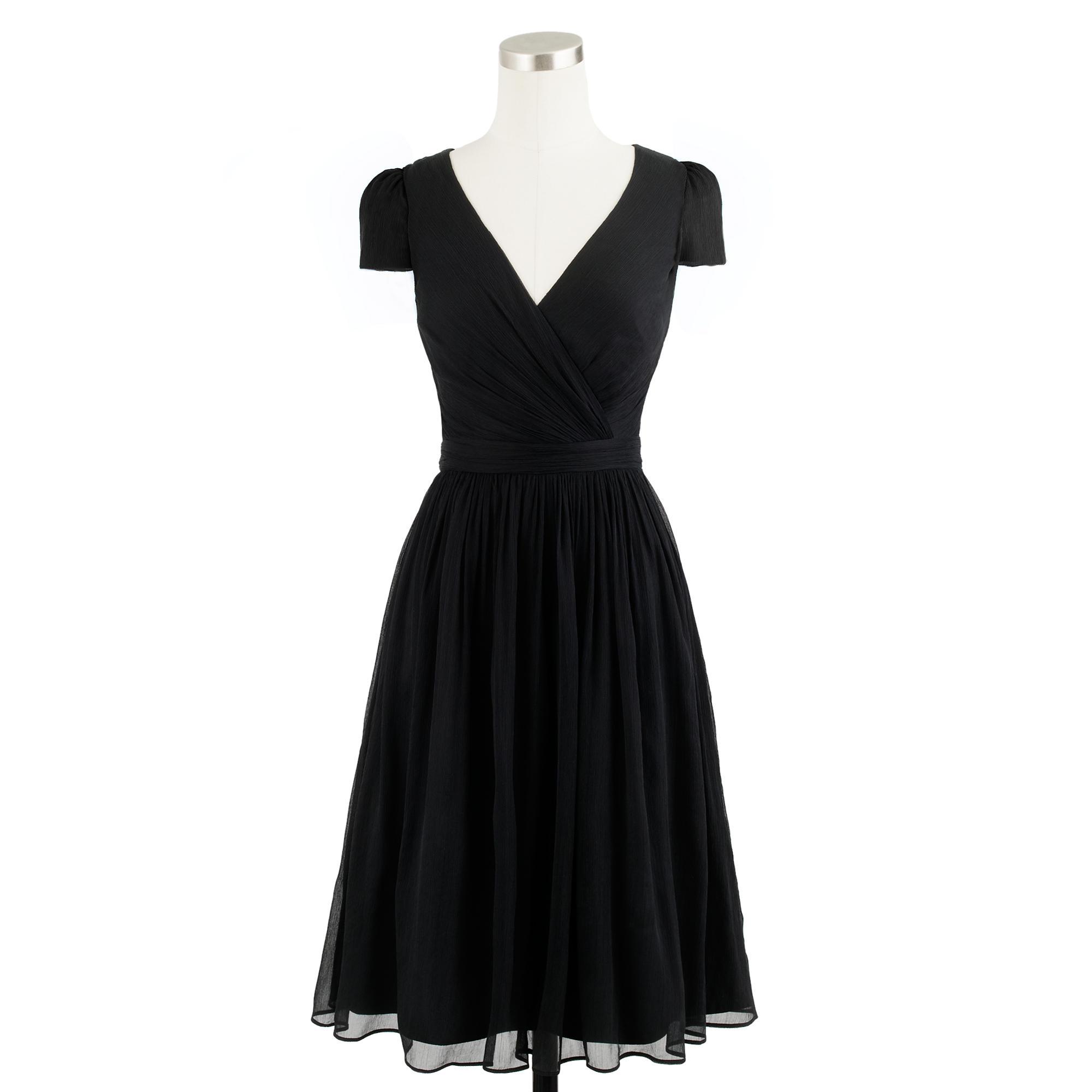 Mirabelle dress in silk chiffon j crew for Jcrew com