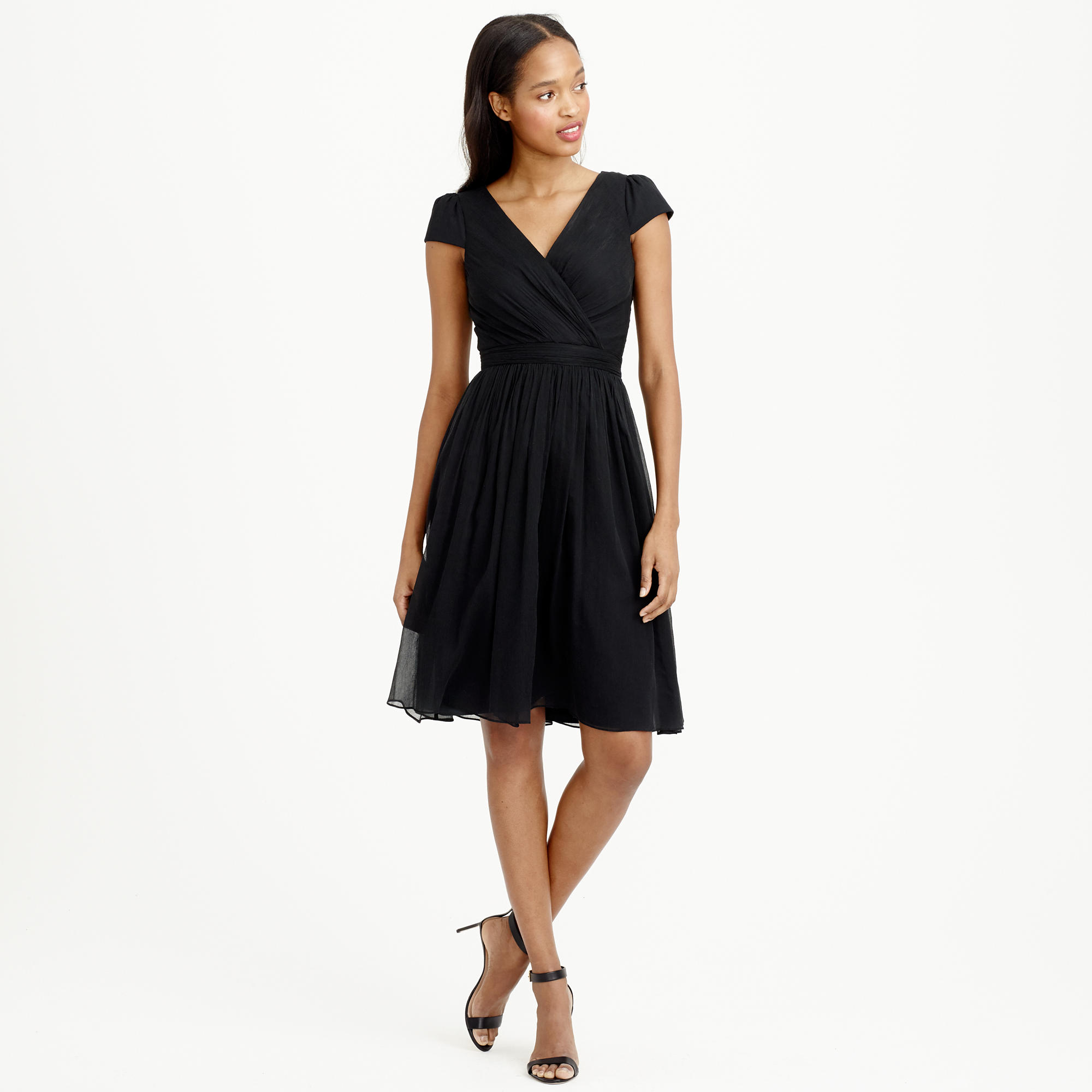 Mirabelle dress in silk chiffon : | J.Crew