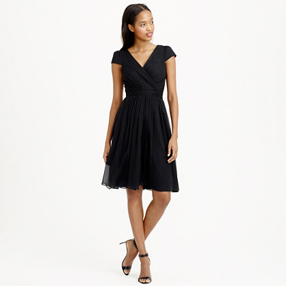 Petite Mirabelle dress in silk chiffon