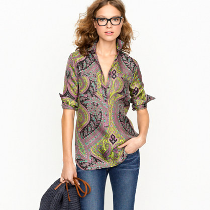 Popover tunic in sovereign paisley