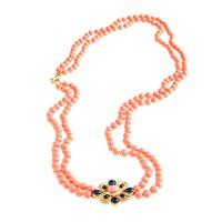 Palm Springs beaded necklace
