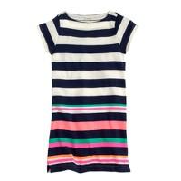 Girls' multistripe tee dress