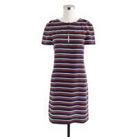 Stripe silk tunic dress