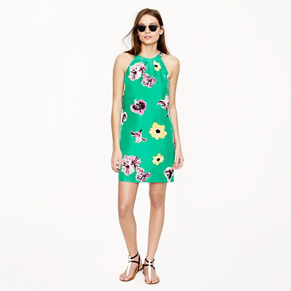 Swoop dress in punk floral