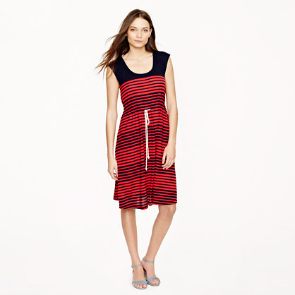 Stripe drawstring dress